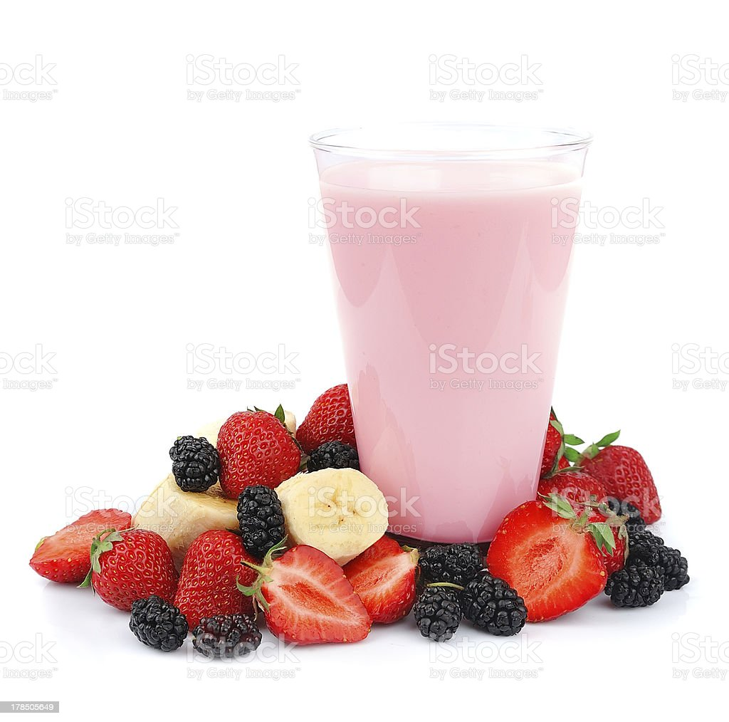 Fresh fruits and smoothies royalty-free stock photo