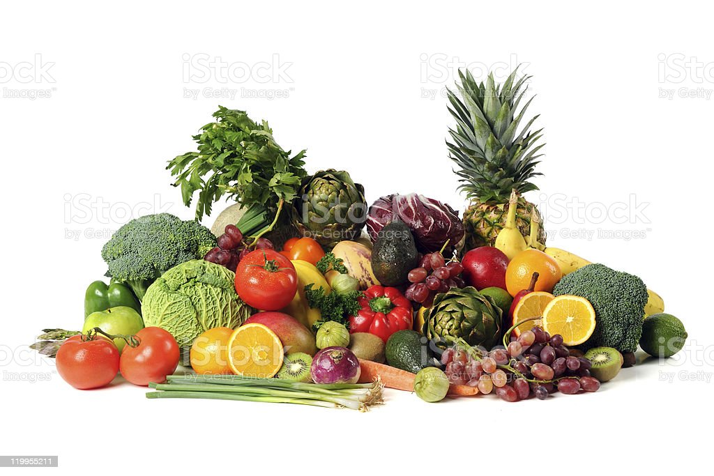 Fresh Fruits and Vegatables royalty-free stock photo