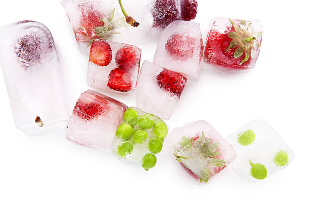 fresh fruits and vegetable. - frozen berries stock photos and pictures