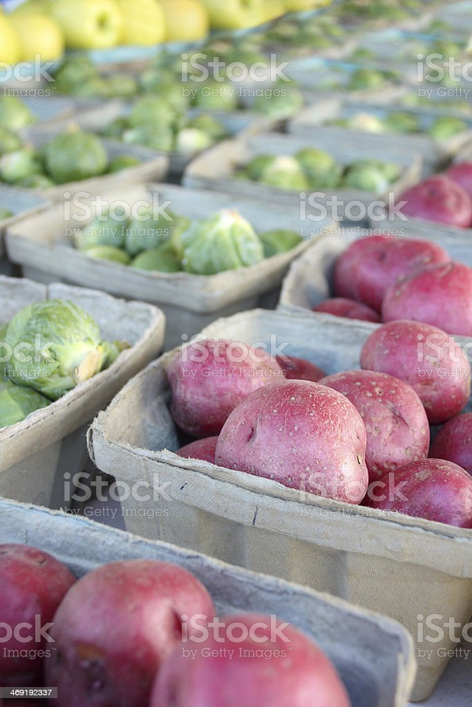 Fresh Fruits and Vegetables for Sale at Farmer's Market stock photo