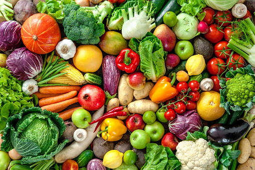 istock Fresh fruits and vegetables 589415708