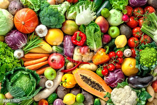 istock Fresh fruits and vegetables 589417822