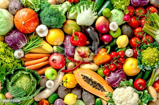 istock Fresh fruits and vegetables 683044558