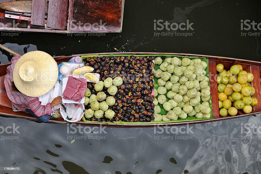 Fresh Fruits - Damnoen Saduak Floating Market, Thailand (XXXL) stock photo
