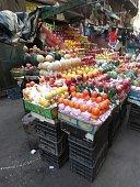 Cairo , Arabic Republic of Egypt / Egypt - November 12 , 2019: fresh fruits in the market of downtown Cairo city Egypt