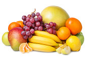 istock Fresh fruits isolated on a white background. Set of different fresh fruits. 495056781