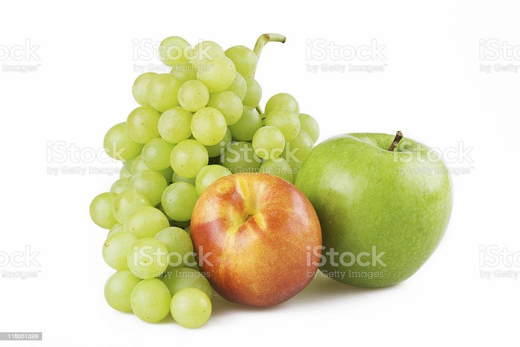 Fresh fruits isolated on white royalty-free stock photo