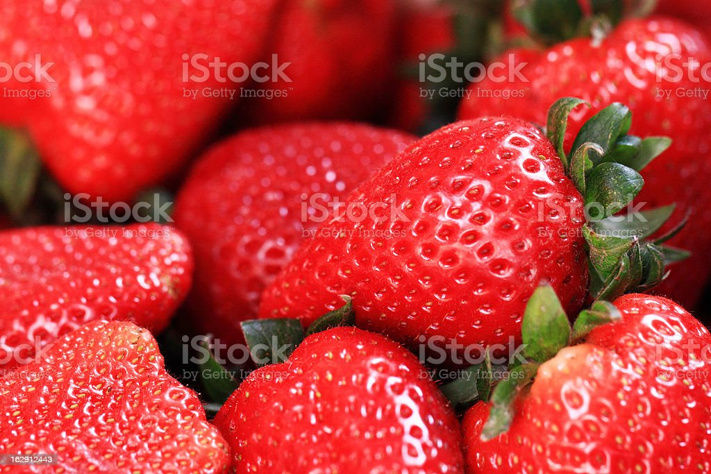 fresh fruits - juicy strawberries royalty-free stock photo