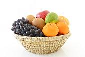 Fresh fruits in basket