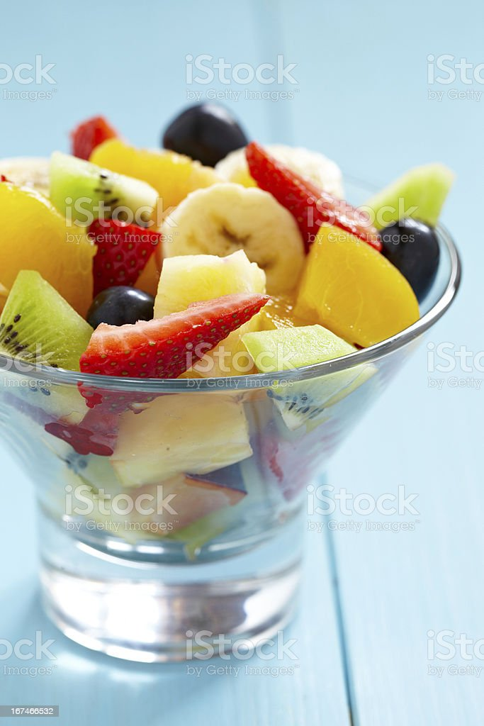 fresh fruits salad royalty-free stock photo
