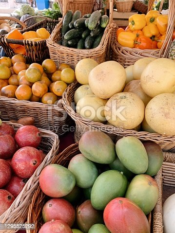 Fruits & Vegetables at a Local Green Market in West Palm Beach, FL .
