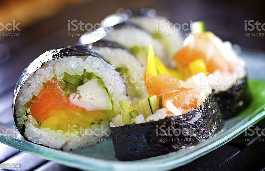 Fresh futomaki sushi royalty-free stock photo