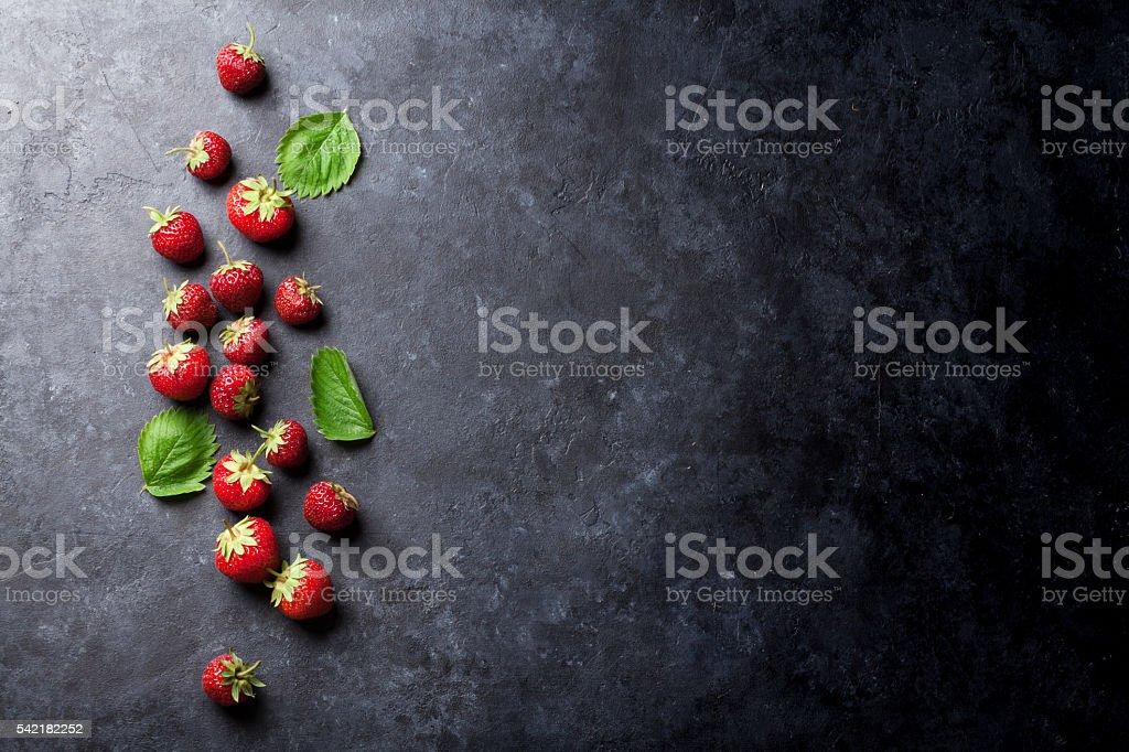 Fresh garden strawberry stock photo