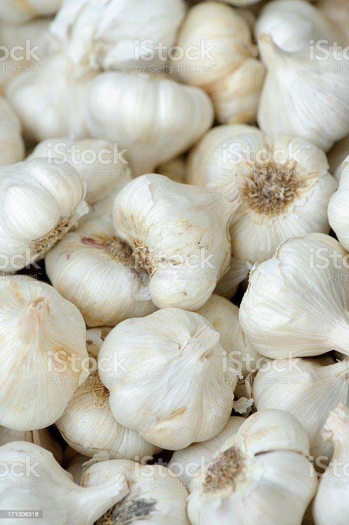 fresh garlic, farmers' market, pasadena stock photo