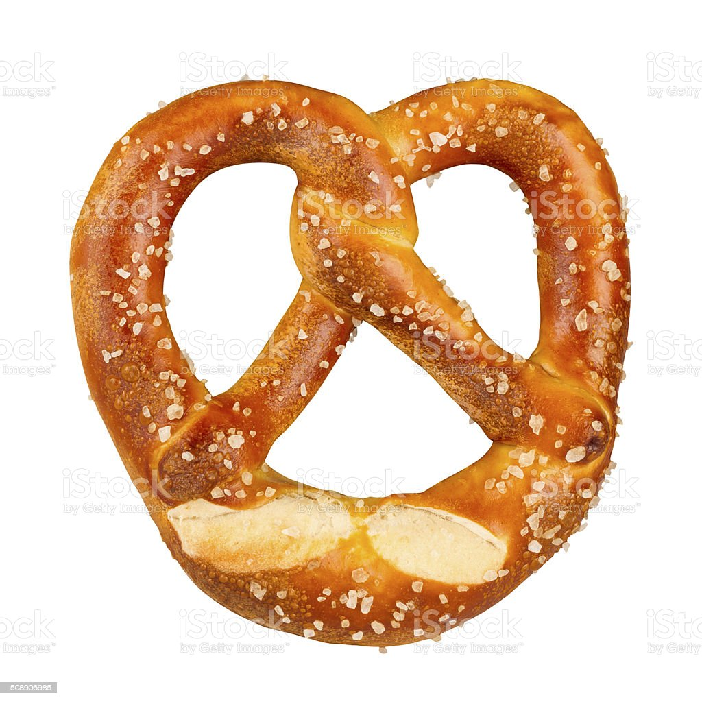 fresh german pretzel stock photo