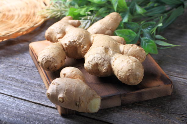 fresh ginger - ginger stock photos and pictures