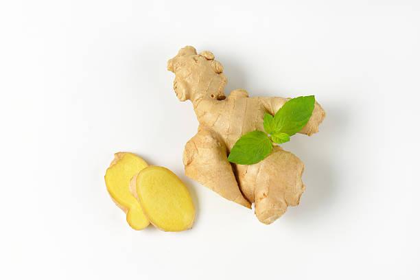Fresh ginger root stock photo
