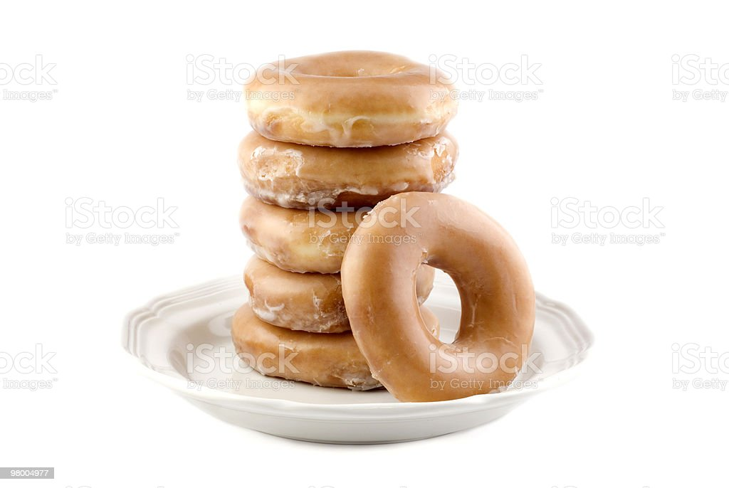 Fresh Glazed Doughnuts royalty-free stock photo