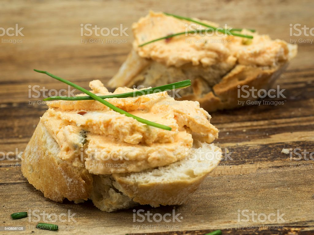 Fresh Goats Milk Cheese With Herbs And Onions Stock Photo - Download