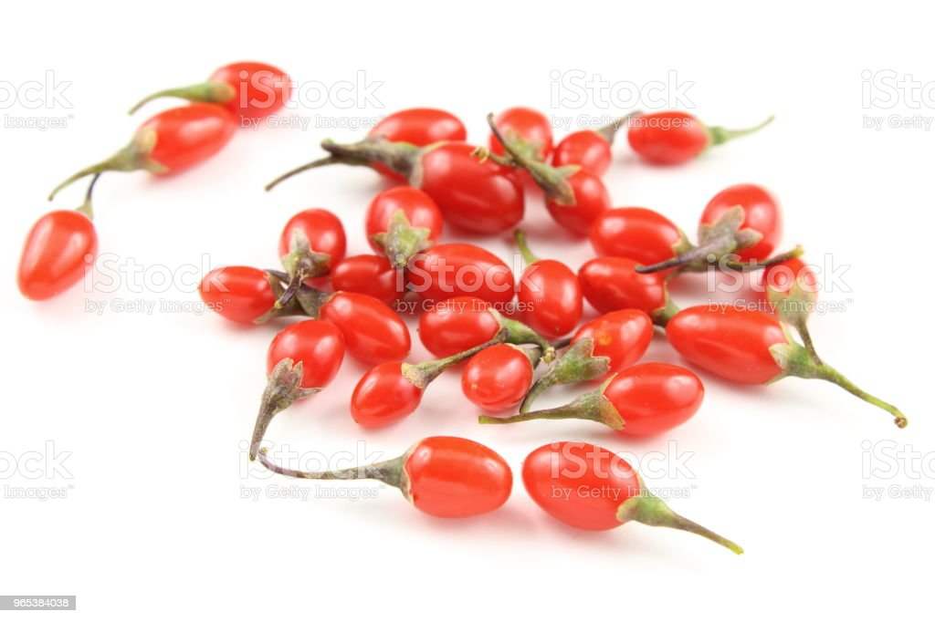 fresh goji berries isolated on a white background royalty-free stock photo
