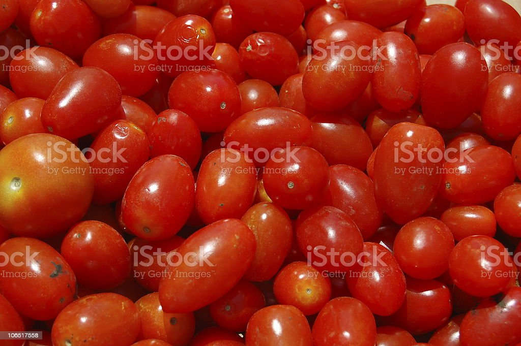 fresh grape tomatoes royalty-free stock photo