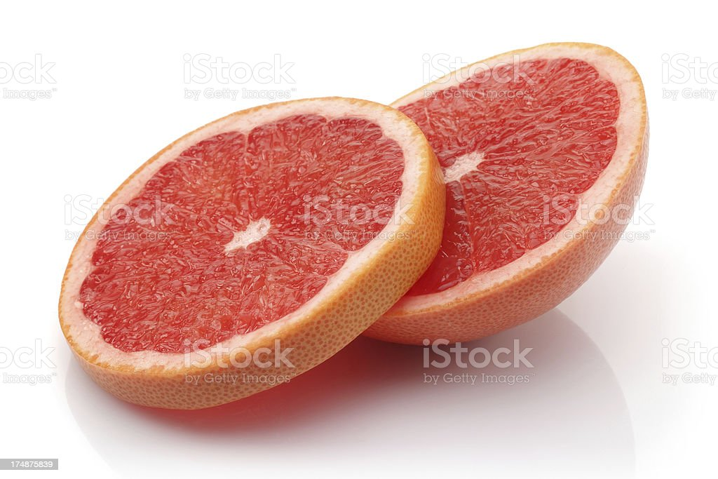 Fresh grapefruit Sliced royalty-free stock photo