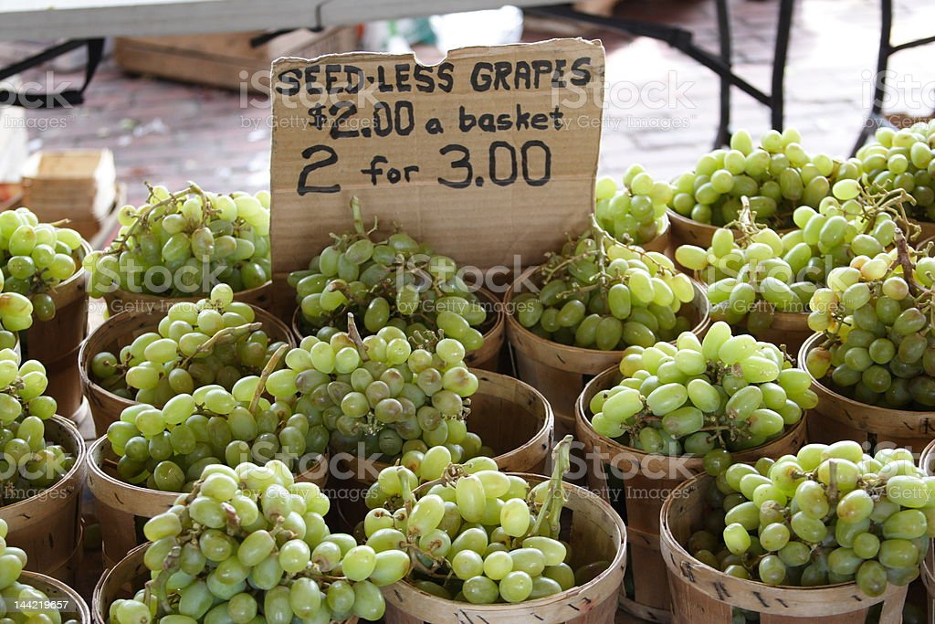Fresh Grapes for Sale stock photo