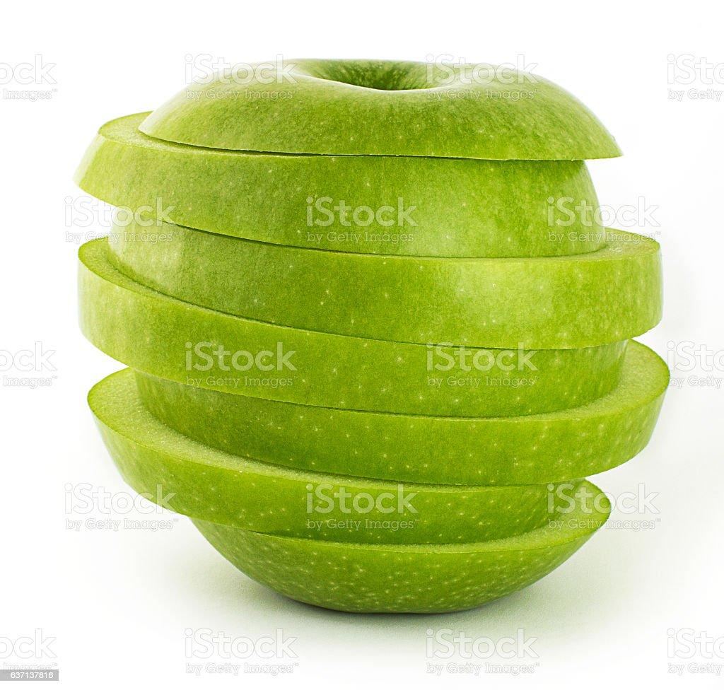 Fresh Green Apple - Sliced Apple ストックフォト