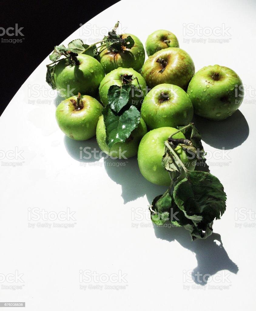Fresh Green Apples royalty-free stock photo