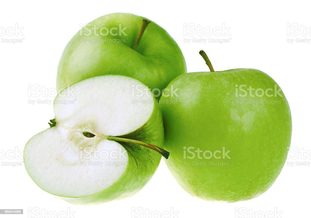 Fresh green apples royalty-free stock photo