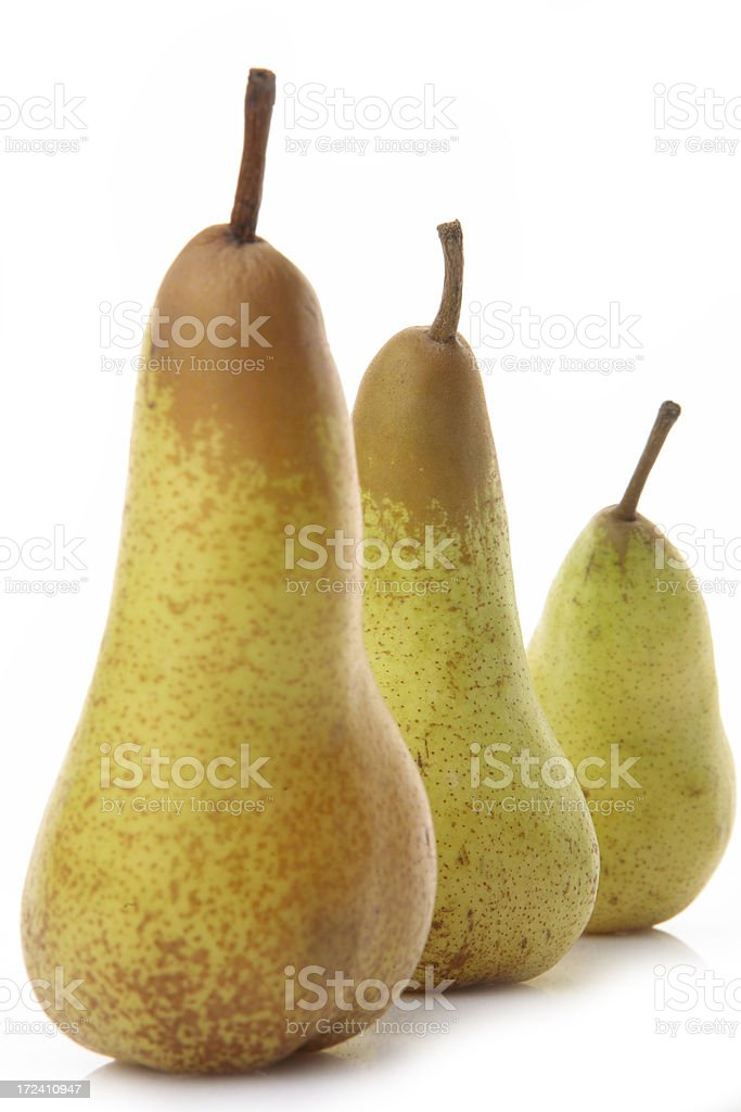 fresh green autumn pears stock photo