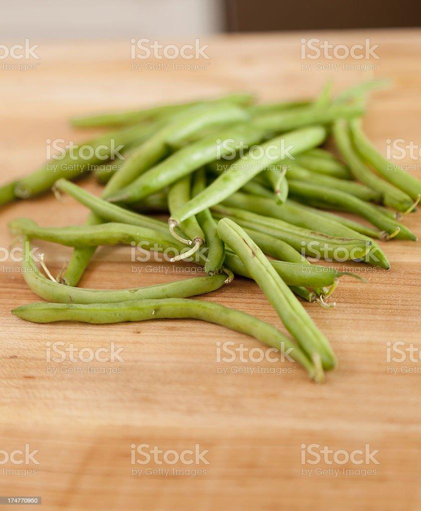 Fresh Green Beans royalty-free stock photo