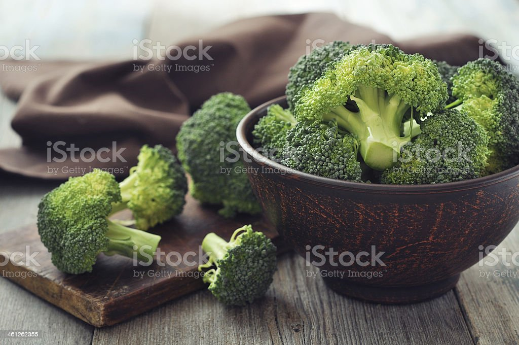 Fresh green broccoli​​​ foto