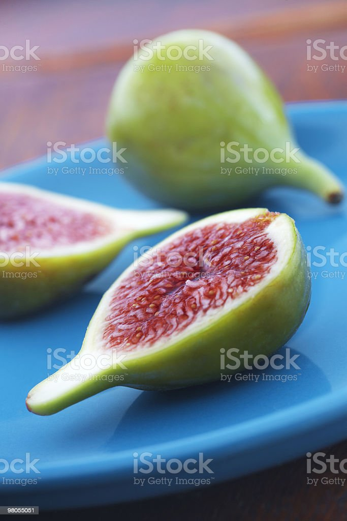 Fresh Green Figs royalty-free stock photo