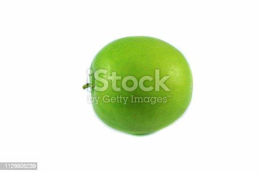 Fresh green Juicy jujube fruit isolated on white background / Other names Indian plum , jujube monkey apple