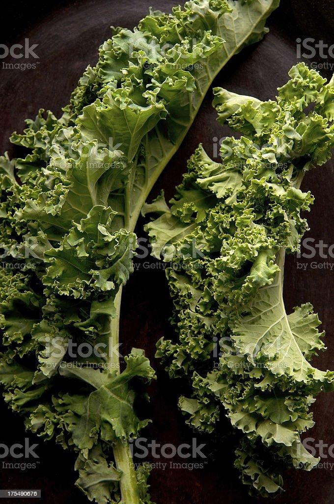 Fresh Green Kale Leaves royalty-free stock photo