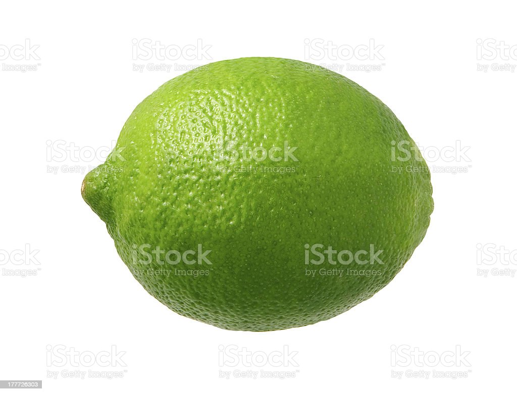 Fresh Green Lime isolated royalty-free stock photo