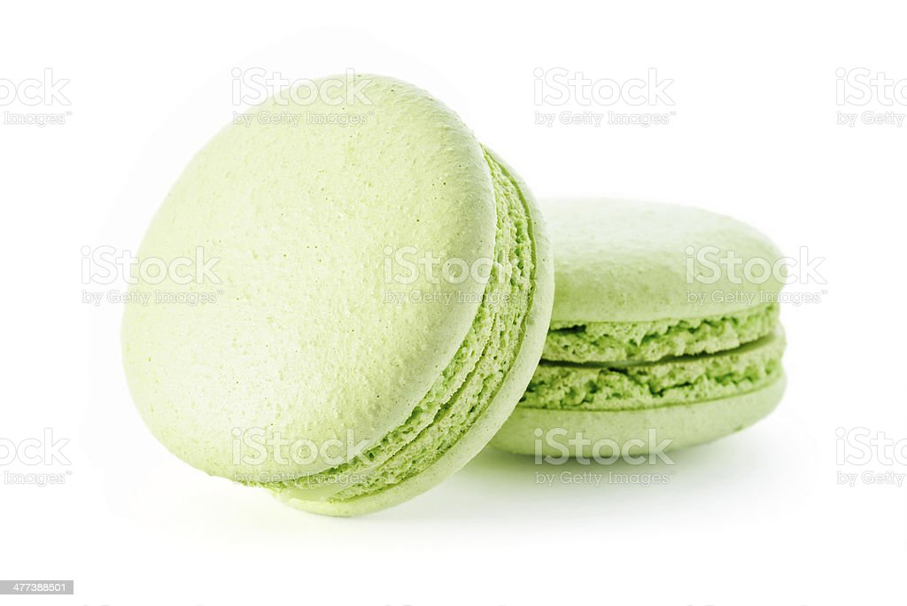 Fresh green macarons royalty-free stock photo