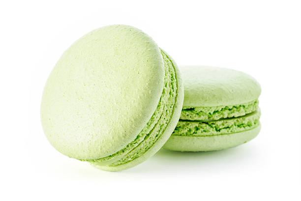 Fresh green macarons stock photo