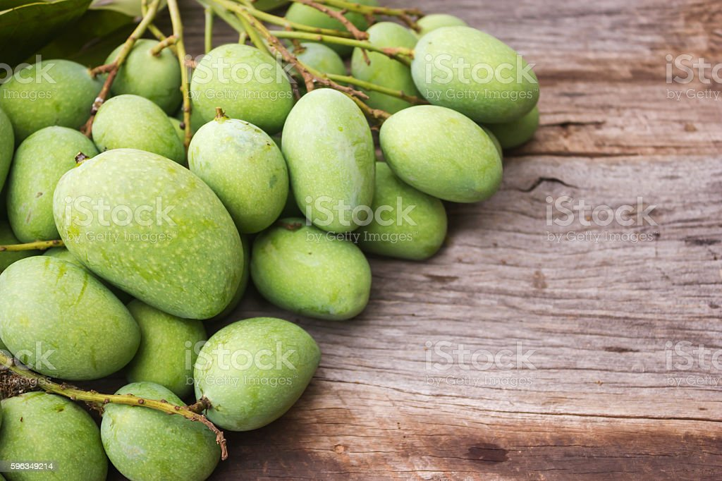 Fresh green mango. royalty-free stock photo