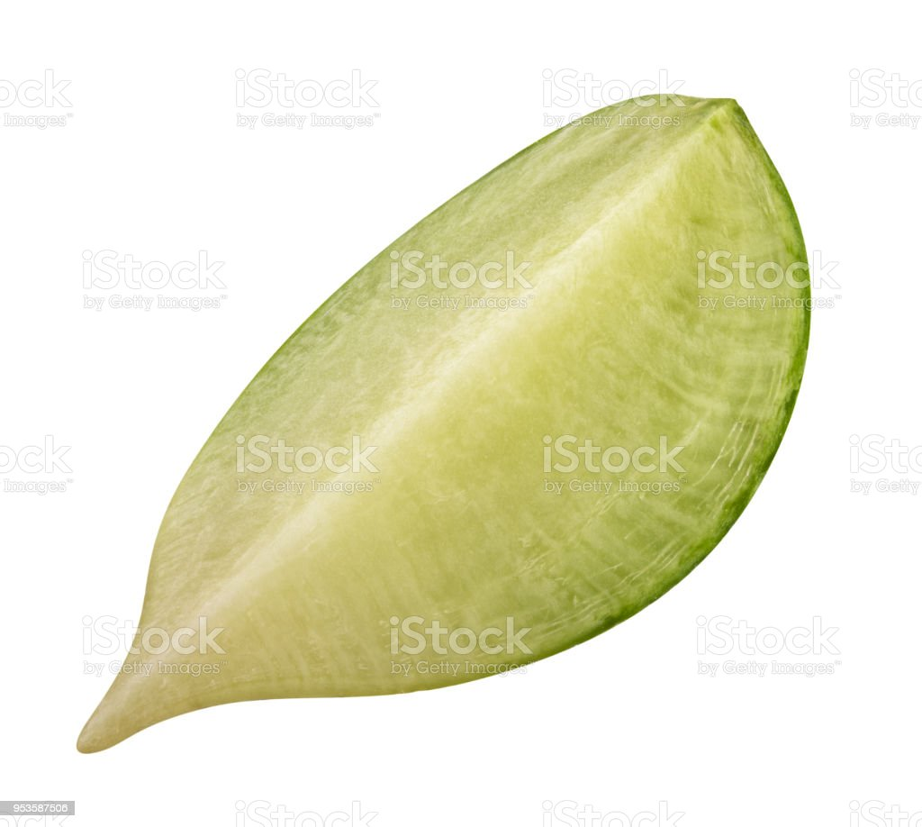 Fresh green redish isolated on white background with shadow. Clipping path stock photo