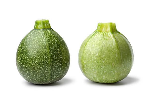 Fresh green round Zucchini stock photo