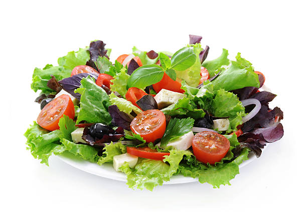 Fresh green salad. stock photo