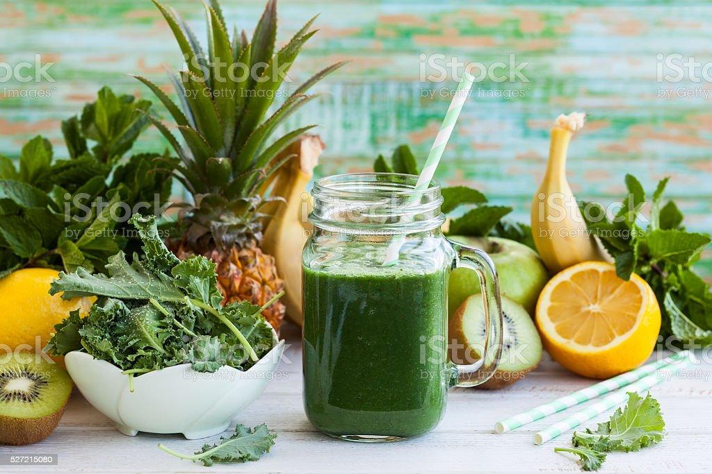 smoothie Verde - foto de acervo