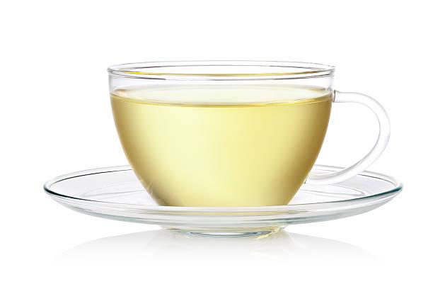 fresh green tea stock photo