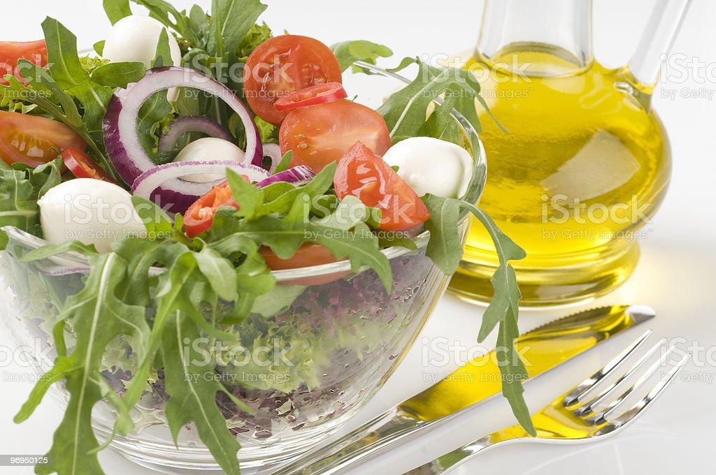 Fresh green vegetable salad royalty-free stock photo