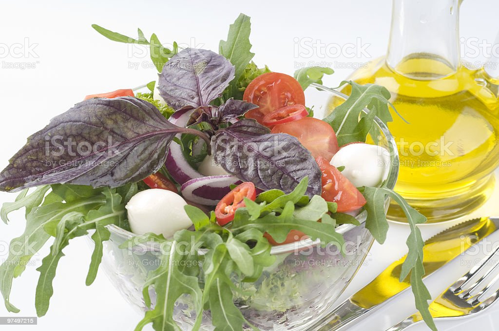 Fresh green vegetable salad royalty-free stock photo