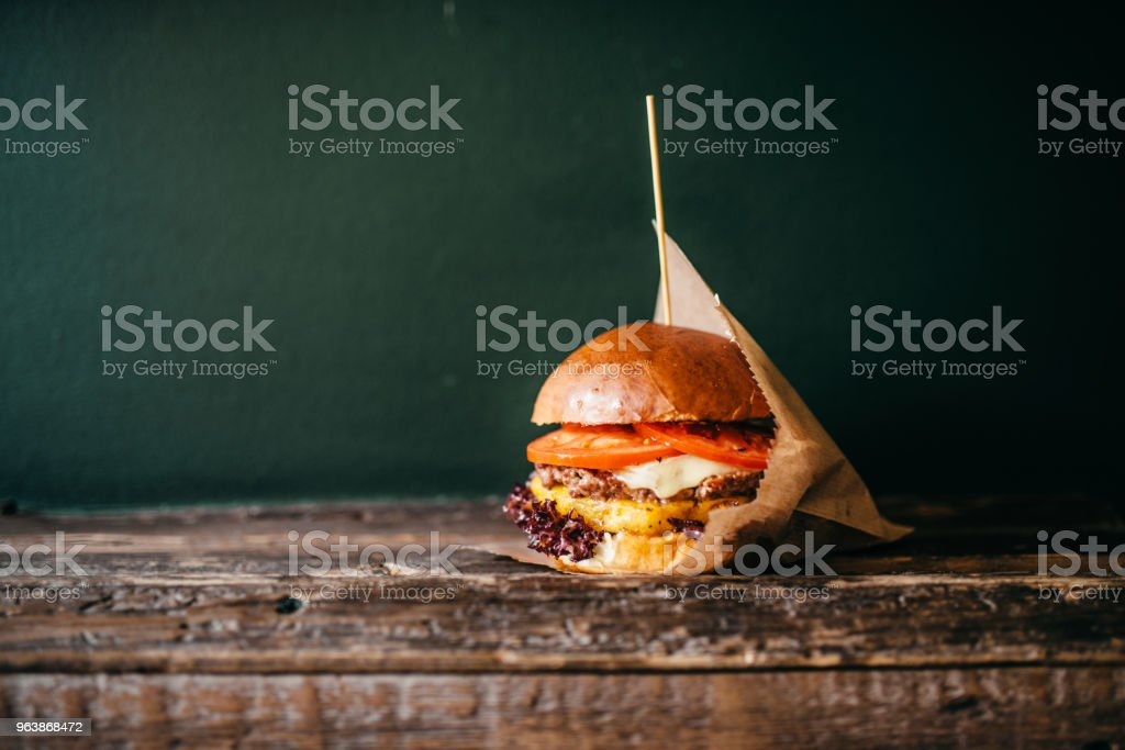 Fresh grilled burger, american fast food - Royalty-free Backgrounds Stock Photo