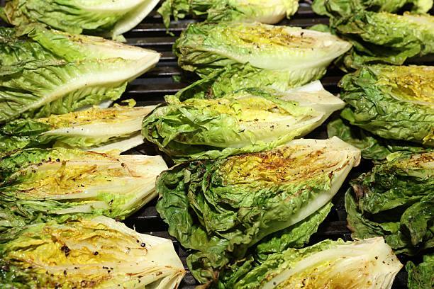 Fresh grilled hearts of Romaine Lettuce – Foto