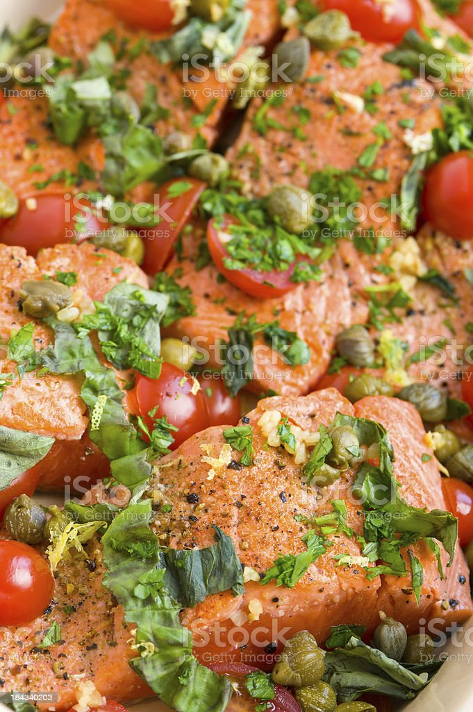 Fresh Grilled Salmon Entree royalty-free stock photo